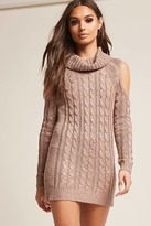 Forever 21 Open-Shoulder Sweater-Knit Dress