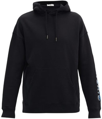 Givenchy Chenille-logo Cotton Hooded Sweatshirt - Black