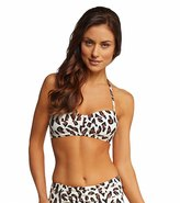 DKNY Urban Animal Draped Bandeau Bra Bikini Top 8115472