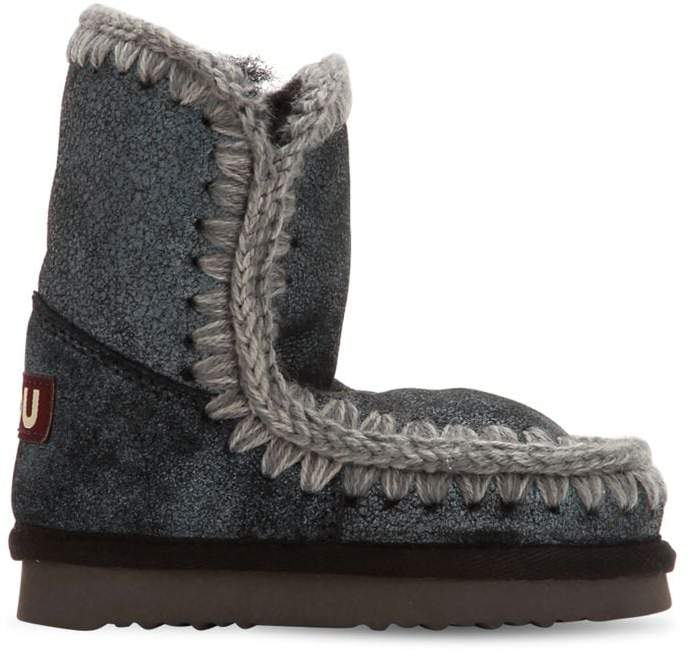 Mou Mini Eskimo Shiny Shearling Boots