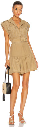 Zimmermann Utility Mini Dress in Khaki | FWRD
