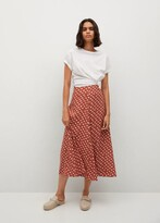Thumbnail for your product : MANGO Printed midi skirt