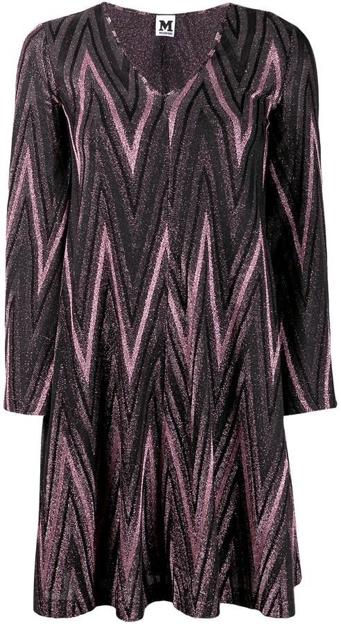 M Missoni zig-zag lurex knit dress