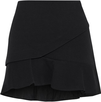 IRO Cavane Fluted Cotton-blend Mini Skirt