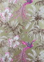 Matthew Williamson Lemon & Pink Bird of Paradise Wallpaper