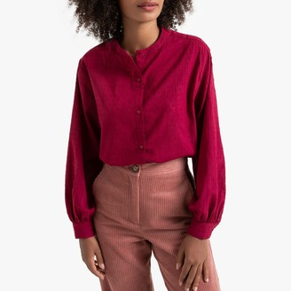 La Redoute Collections Cotton Long-Sleeved Loose Blouse