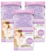 Spongeables 20 Plus Body Wash with Buffer Lavender Nectar -3 Pack