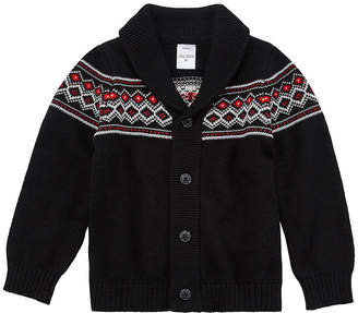 Okie Dokie Boys Long Sleeve Button Cardigan Toddler
