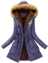 Womens Warm Long Coat Slim Winter Outwear Jacket by Franterd(, XXL)