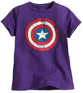Disney Captain America Shield Tee for Girls