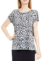 Vince Camuto Two by VINCE CAMTUO Abstract Animal Print Burnout Tee