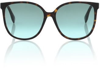 Fendi FF square tortoiseshell sunglasses