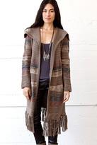 Goddis Adler Long Fringe Knit Jacket In Sundance