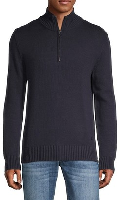 French Connection Quarter-Zip Cotton Sweater
