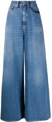 MM6 MAISON MARGIELA Stonewashed Wide-Leg Jeans