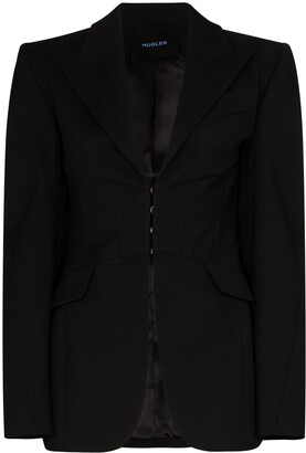 Thierry Mugler Peaked-Lapel Fitted Blazer