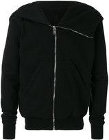 Rick Owens asymmetric zip up hoodie