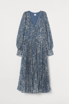 H&M Voluminous Chiffon Dress - Blue