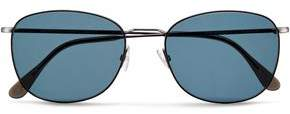Andy Wolf Andreas Square-frame Gunmetal-tone Sunglasses