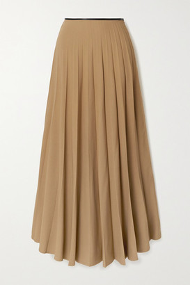 Peter Do Pleated Crepe Skirt - Sand