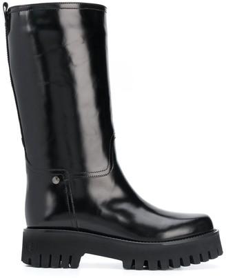Casadei Mid-Calf Platform Boots
