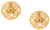 Chanel Pre Owned CC Logos button earrings