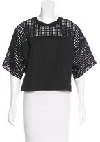 3.1 Phillip Lim Eyelet-Accented Short Sleeve Top