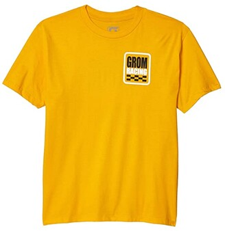 GROM Kids Racing Tee Short Sleeve (Little Kids/Big Kids) (Gold) Boy's Clothing