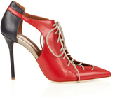 Malone Souliers Montana tri-colour leather pumps
