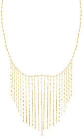 Sphera Milano 14k Mirror Chain Bib Necklace