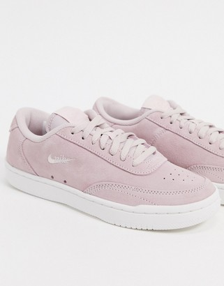 Nike Court Vintage trainers in pale pink suede