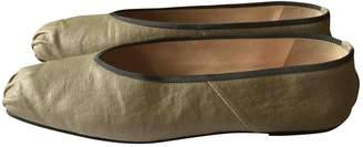 The Row Camel Cloth Flats