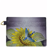 Anuschka Women's Wallets Tuscan - Gray Tuscan Paradise Hand-Painted Leather Credit Card Holder