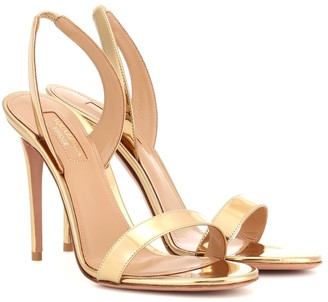 Aquazzura So Nude 105 patent-leather sandals