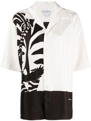Bottega Veneta Zebra Print Short-Sleeve Shirt