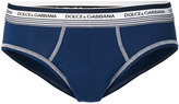 Dolce & Gabbana branded stitch briefs - men - Cotton/Spandex/Elastane - 4