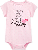 First Impressions Baby Girls' Love Daddy Bodysuit, Only at Macy's