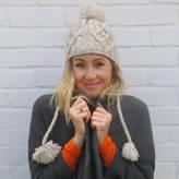 Aura Que Sukhi Handknitted Bobble Wool Hat