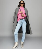 Reiss Elsie - Chunky Ribbed Turtleneck Jumper in Pink