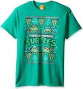 Nickelodeon Men's Tmnt Pizza Slice Ugly Christmas T-Shirt
