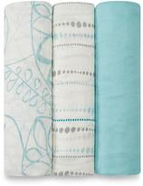 Aden Anais 47'' x 47'' Azure Swaddle Blanket - Set of Three