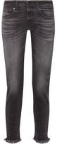 R 13 Boy Skinny Frayed Mid-rise Slim Boyfriend Jeans - Charcoal