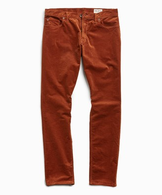 Todd Snyder Slim Fit 5-Pocket Italian Stretch Cord in Copper