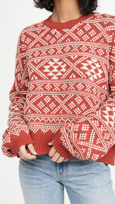 The Great The Fair Isle Pullover Sweater