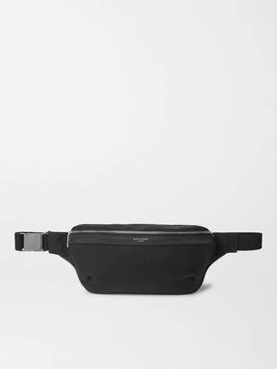 Saint Laurent Leather-Trimmed Canvas Belt Bag