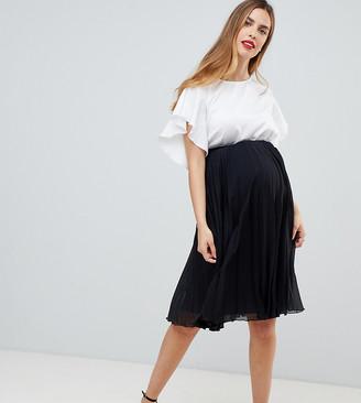 ASOS DESIGN Maternity pleated midi skirt
