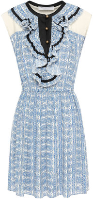 Philosophy di Lorenzo Serafini Ruffled Printed Crepe Mini Dress