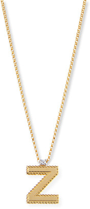 Roberto Coin Princess 18K Yellow Gold Diamond Initial Necklace, Z
