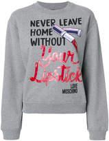 Love Moschino Lipstick sweatshirt