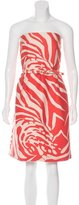 Kate Spade Strapless Abstract Print Dress